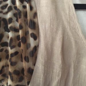 Lady Noiz Tops - Lady Noiz leopard/tan tunic top 1x